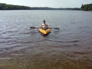 Kayaking on Rock Haven Lake