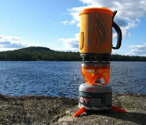 Jetboil on the rocks at Rock Pond (click for full-size image)