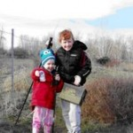 Me and my little sis out Geocaching