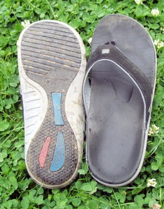 An image of the top and bottom of the Sandals