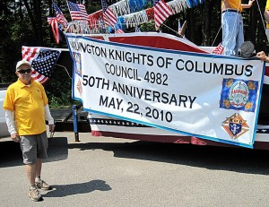 at the end of the Memorial Day parade