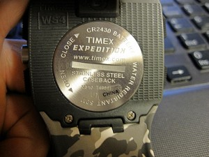 Timex Expedition WS4 backside