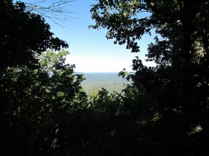 view near The Steven Gapin Shelter at Moose Outlook