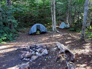 camping at The Steven Gapin Shelter at Moose Outlook