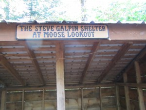 The Steven Galpin Shelter at Moose Lookout