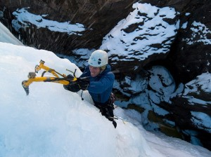 Michael Vladeck, Ouray Ice Park, Ouray Colorado.