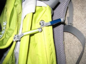 Color coded zipper pulls on the Camelbak Fourteener