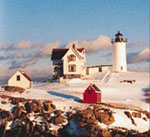Nubble Light in Winter