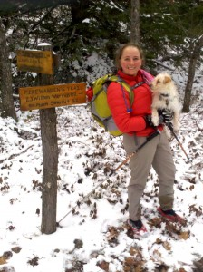 On Firewarden's Trail up Pleasant Mountain in Maine