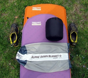 Ther-A-Rest Alpine blanket in compression bag