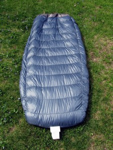 Top view Ther-A-Rest Alpine blanket over air pad