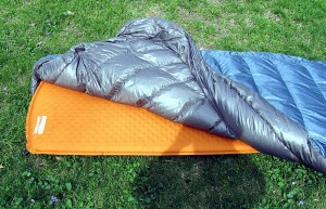 Ther-A-Rest Alpine blanket over 72 in air pad