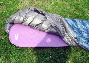 Ther-A-Rest Alpine blanket over 66 in air pad