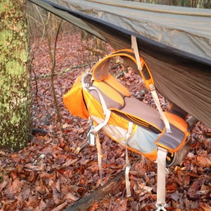 Kelty Fury 35 hanging from my hammock