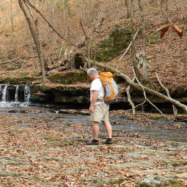 Hiking with Kelty Fury 35L down by the creek