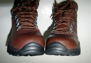 toe view of Fulcrum hiking boots