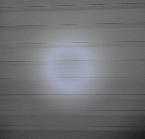 bulls eye effect in the center of the FRX3 LED