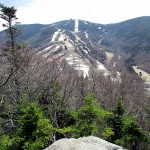 View of Cannon Mountain from Artist bluff clear day