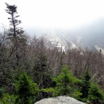 View of Cannon Mountain from Artist bluff cloudy day
