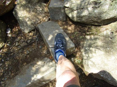 HI-TEC Coyote WP shoes at base of Bald Mtn