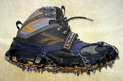 Hillsound Ultra Trail Crampon on Hi-Tec boot