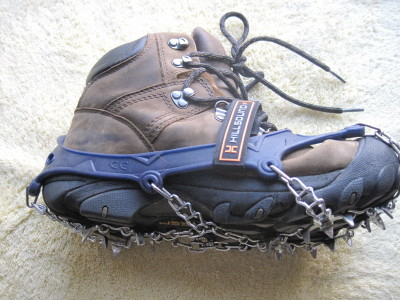 Hillsound Ultra Trail Crampon on Keen boot