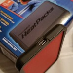Charging Port on the ThermaCELL HeatPacks Pocket Warmers