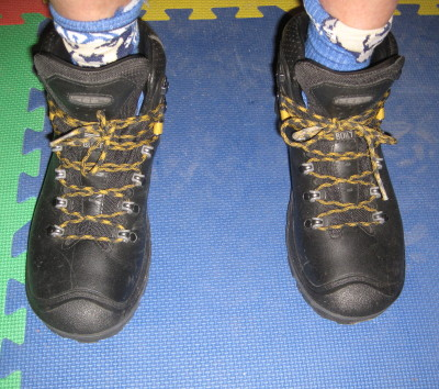 view of top lugs not used on Keen Liberty Ridge boots