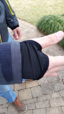 Adjustable sleeve cuffs with inside sleeve with thumb hole.