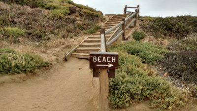 Beach Trail at Torrey Pines. From the ridge to the beach.