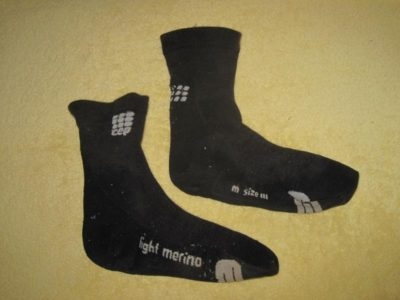 CEP Men's Dynamic + Outdoor Light Merino Mid-Cut Socks after 2 months use