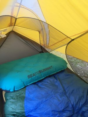 42a06efa96 Sea to Summit Aeros Ultralight Deluxe pillow inflated and ready for bed