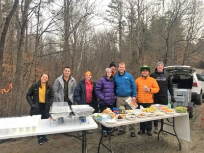 Volunteering at an Aid Station at the Holiday Lake 50k