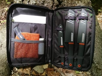 4163ecd2c2 ... Knife Set was provided to this reviewer for a full review. GSI Outdoors  has recently come out with this handy set of kitchen knives for home or  camp.